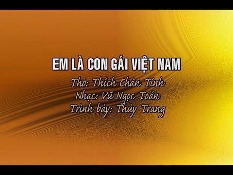 Em Là Con Gái Việt Nam [karaoke] - Thùy Trang