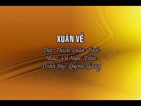 Xuân Về - Quỳnh Giang