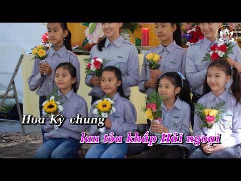 Gia Đình Phật Tử Việt Nam Hoa Kỳ [Karaoke] -